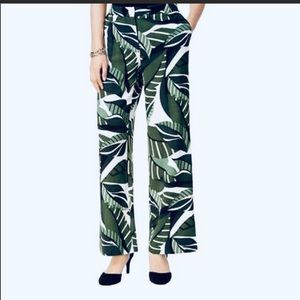 NWT Alfani Wide Leg Botanical Graphic Pants 12